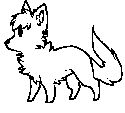 free canine line art by igaueno