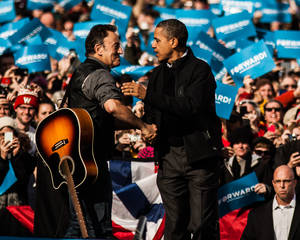 Obama and Springsteen 01