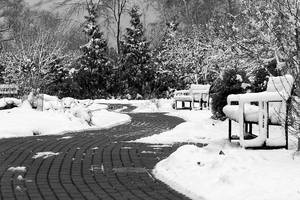 Snowy Bench 04 by StudioFovea