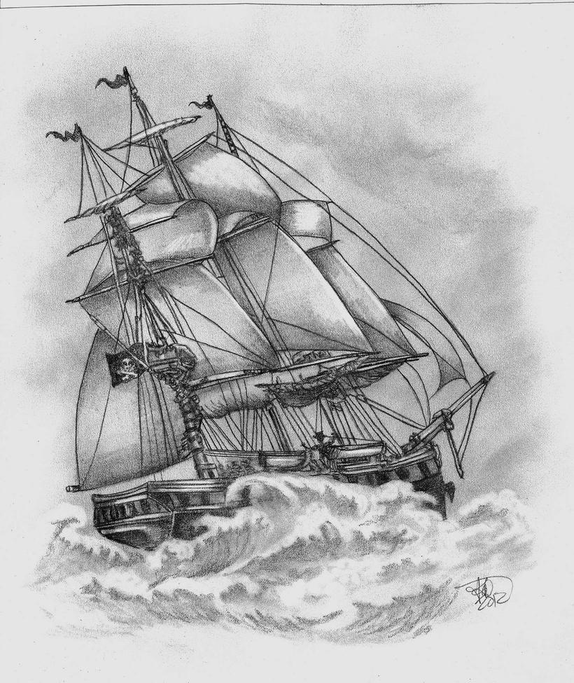 Pirate ship drawing - photo#5