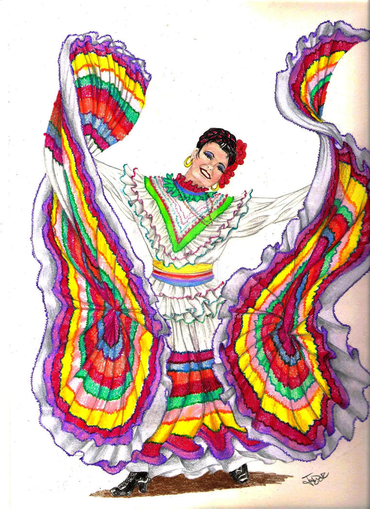 Traditional Mexican Dancer By Winstonscreator On DeviantArt