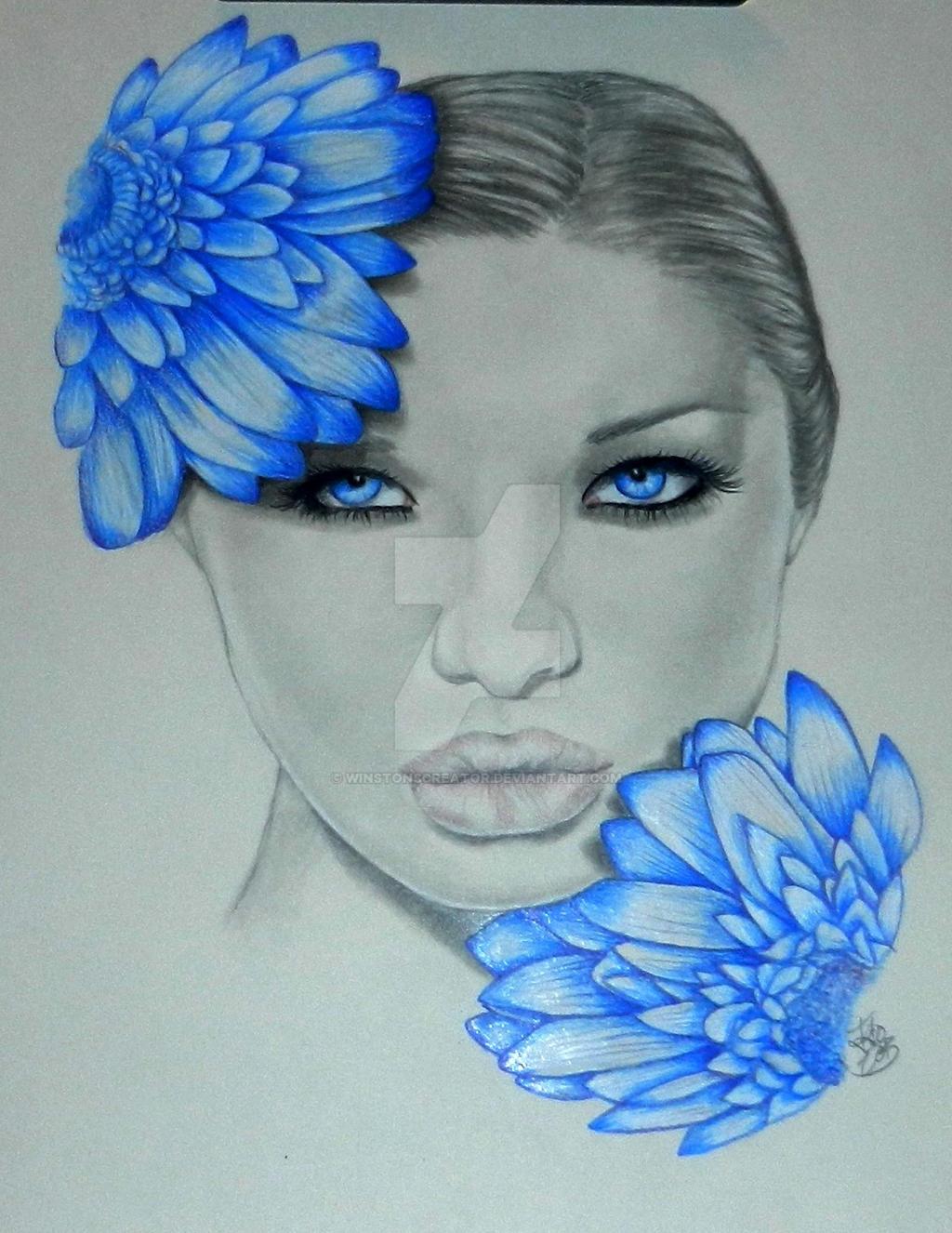Blue Blooms by winstonscreator