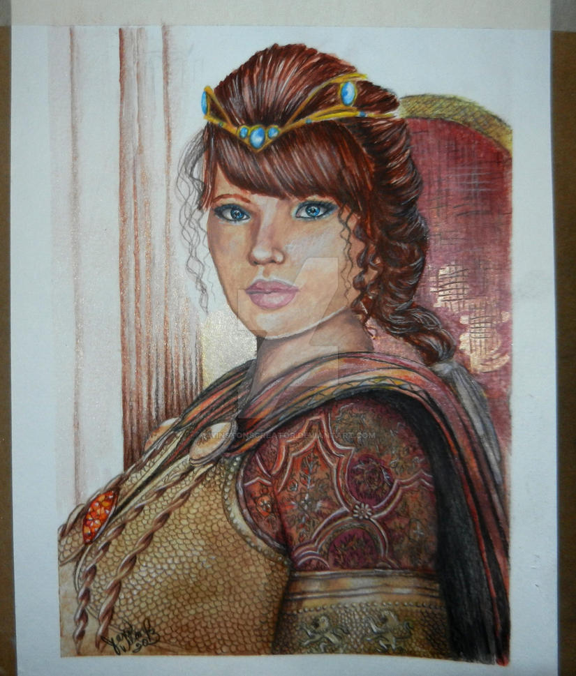 woman gladiator by winstonscreator