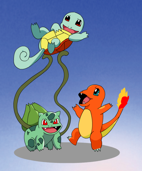 charmander bulbasaur squirtle coloring pages - photo#35
