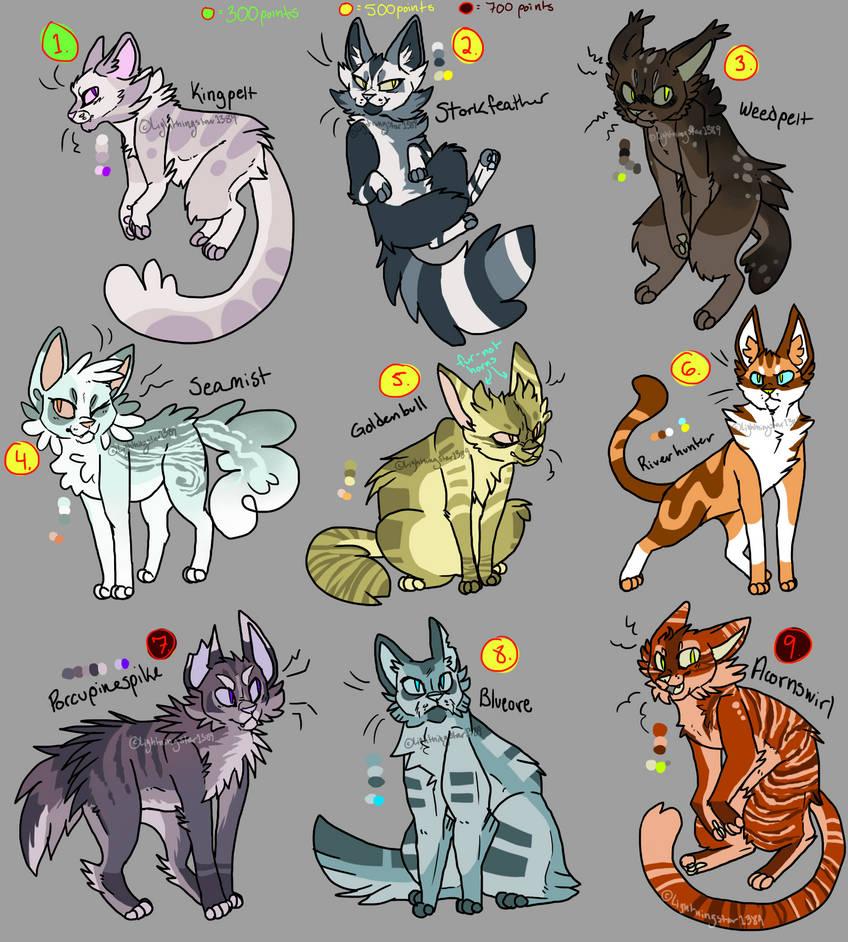 Cat Design Adopts (Warriors- OPEN) by lightningstar1389 on ...