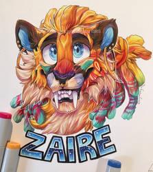 Zaire Badge [COMM] by lightningstar1389