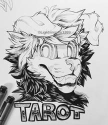 Tarot Line Art Badge [COMM] by lightningstar1389