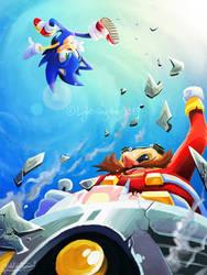 Sonic 28th by lightningstar1389