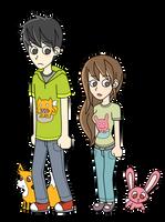 Bunny and Fox Cartoon by Sabinaa