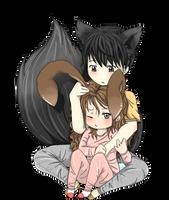 Bunny and Fox by Sabinaa