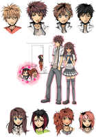 Some characters by Sabinaa
