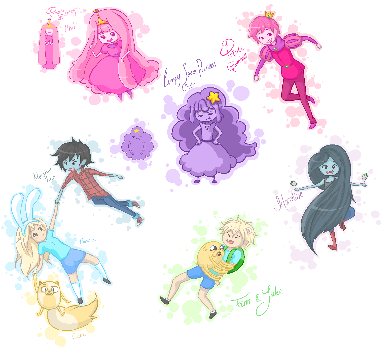 Adventure time characters by Sabinaa
