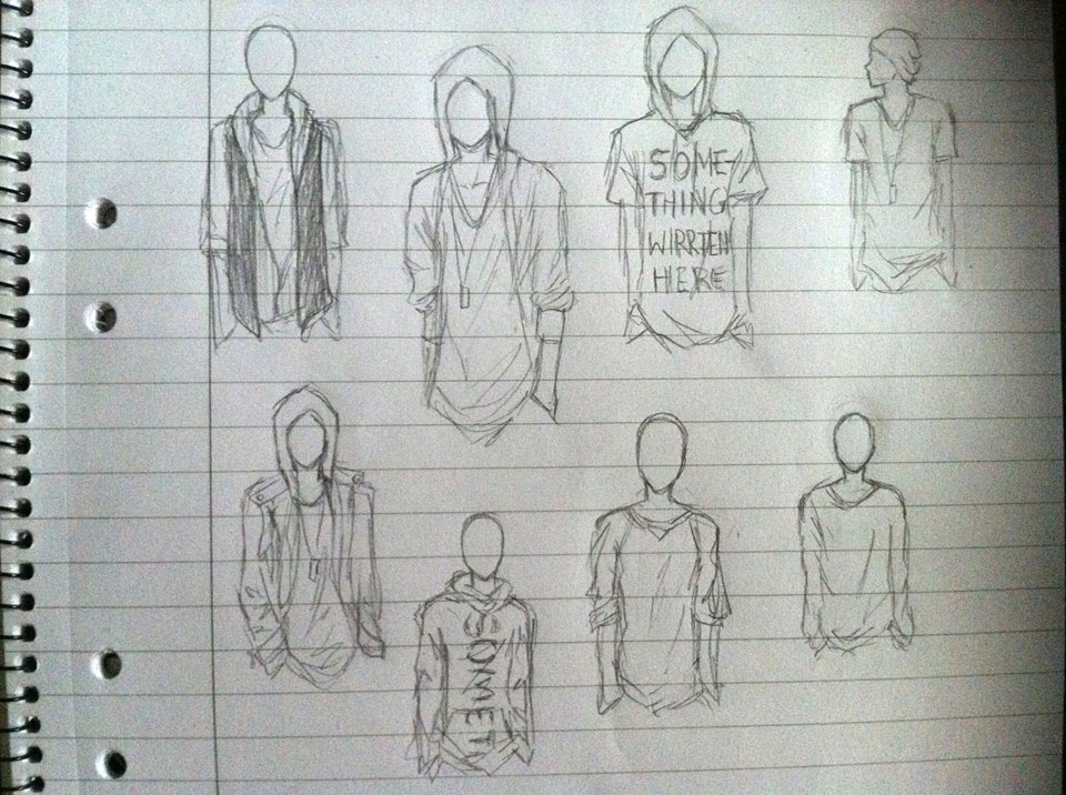 SKETCH: boy clothes by Sabinaa on DeviantArt