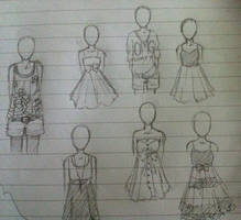 SKETCH: girl clothes by Sabinaa