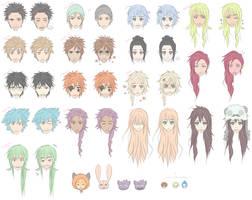 Manga characters by Sabinaa