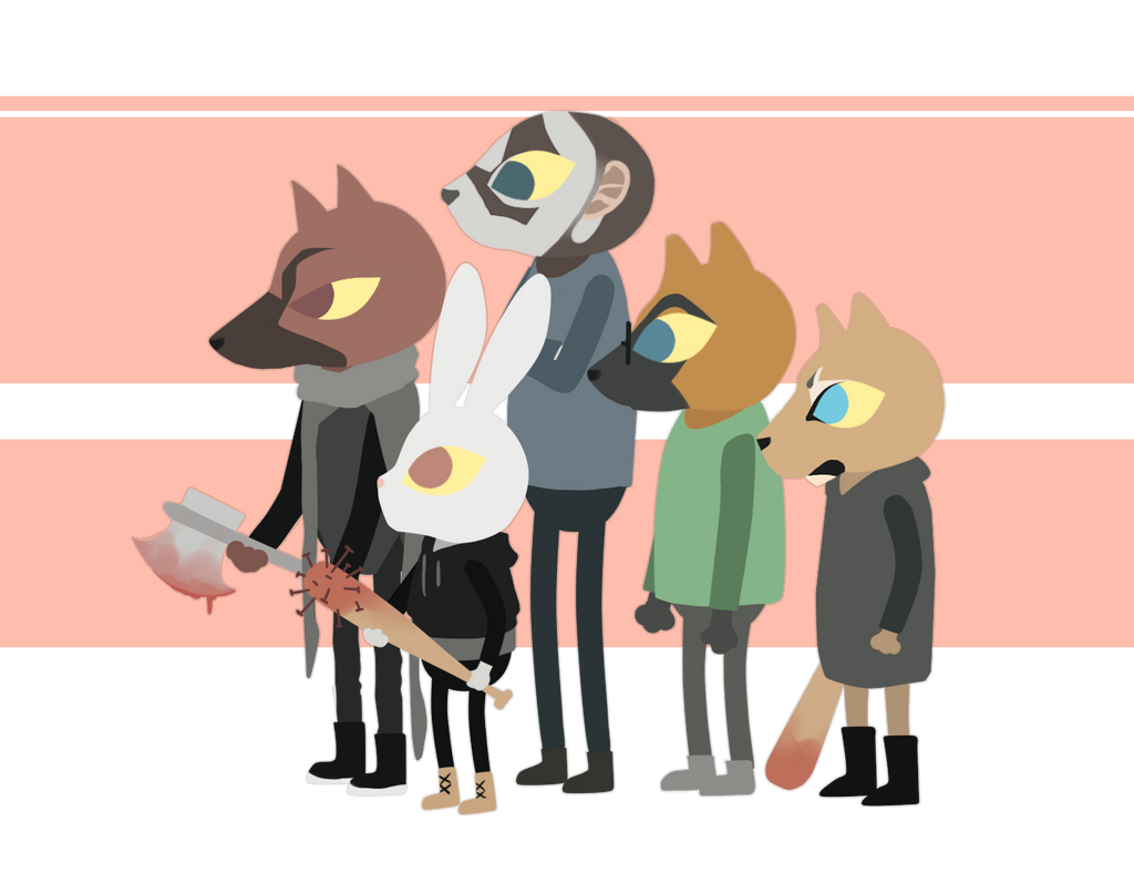 Night In The Woods - My friends as characters by Sabinaa