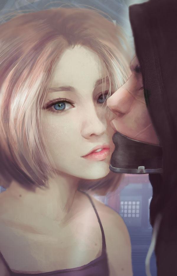 Overwatch - Mercy and Genji by Sabinaa
