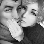 Genji and Mercy by Sabinaa