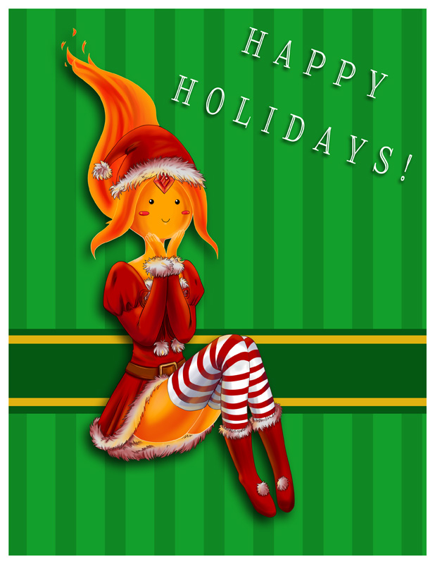 AT Happy Holidays - Flame Princess by YunaSakura