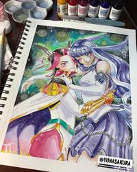 Castor and Pollux Watercolor | Unison League