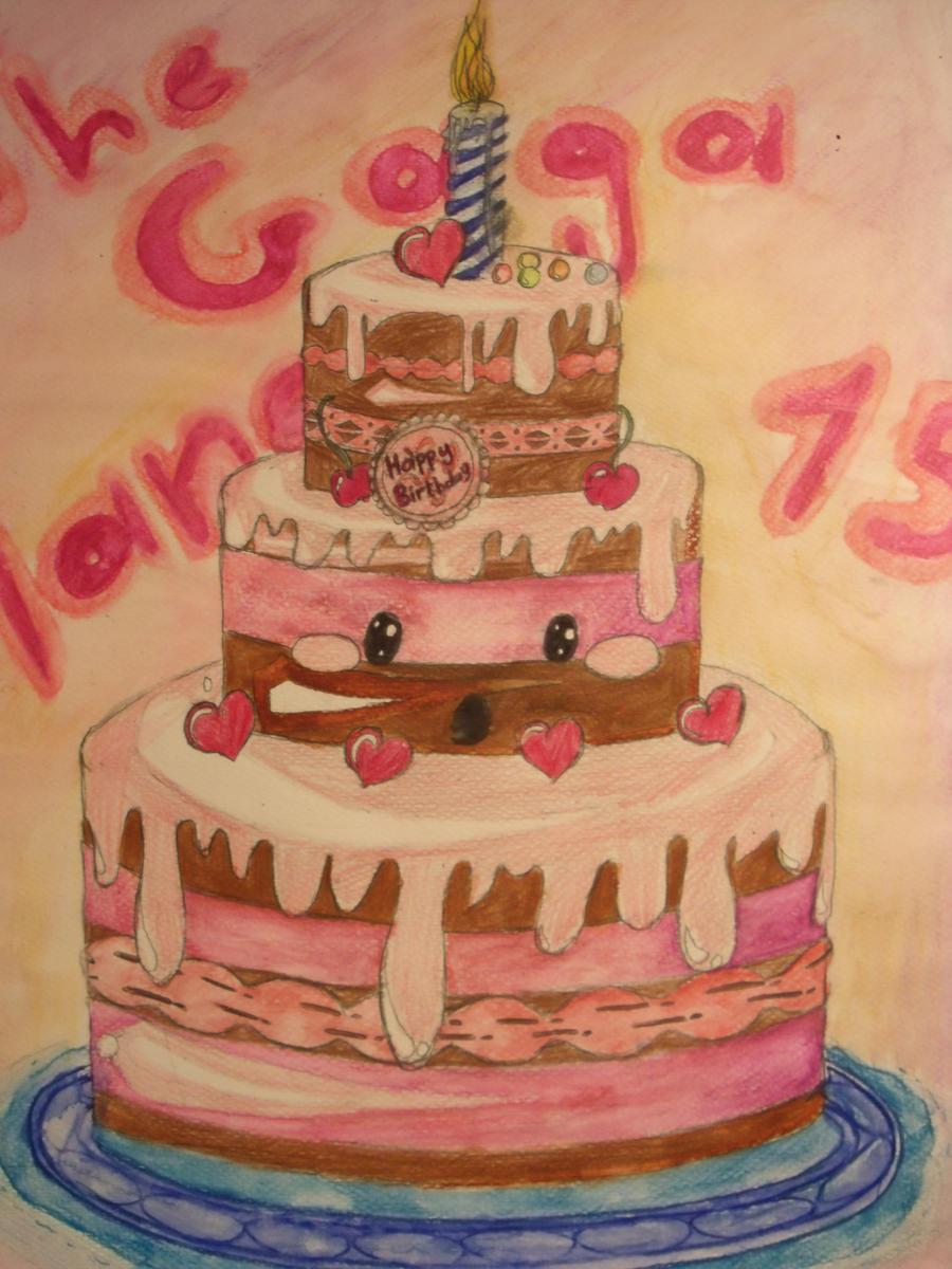 Cute Birthday Cake By Thegagamanga On Deviantart