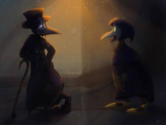 bird bros by Mimumik