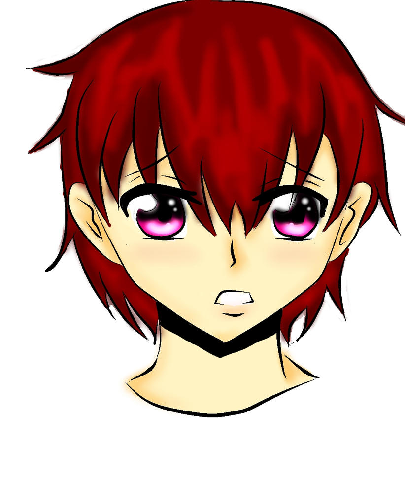 red head anime boy by melly0119