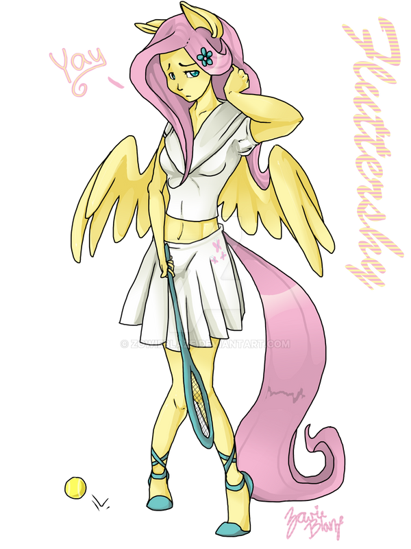 Fluttershy Tennis Yay by ZowieBlaze
