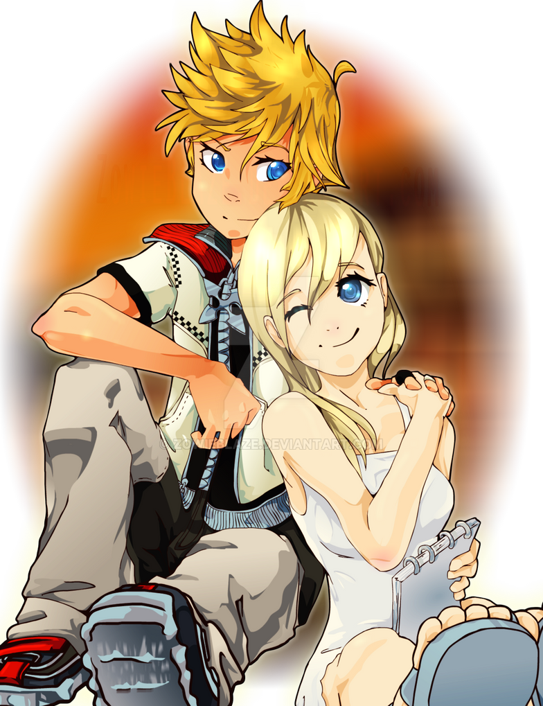 Roxas And Namine by ZowieBlaze