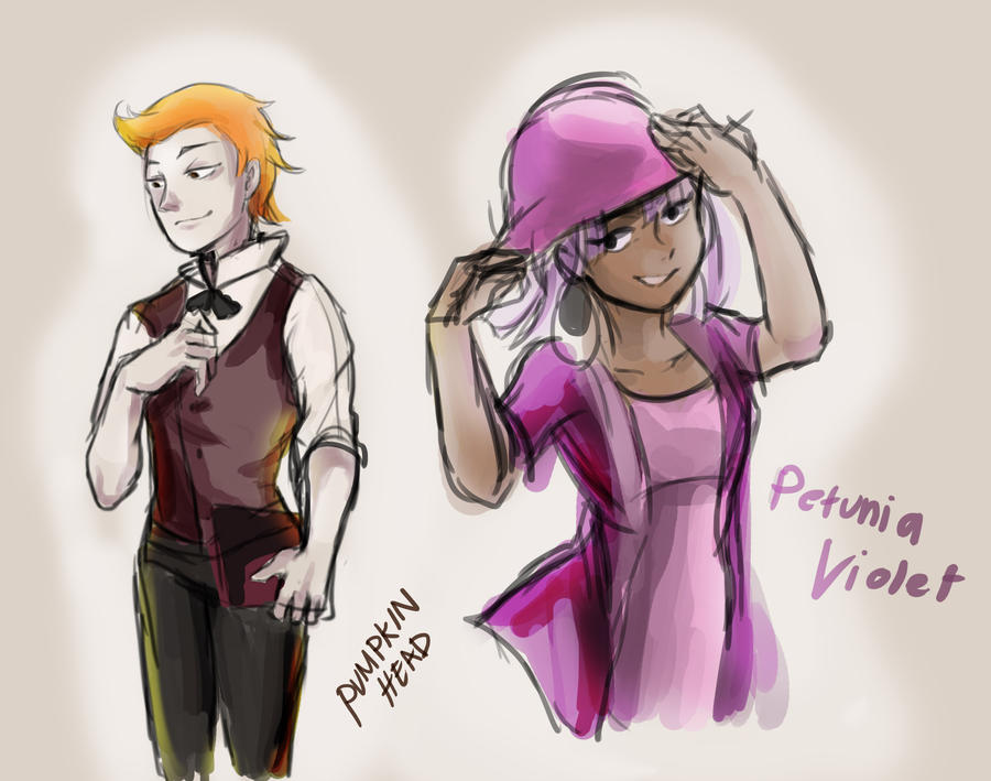 Doodles : Todd Allison and The Petunia Voilet by Jiunna