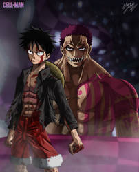 Battle of Equals: Luffy Vs. Katakuri by CELL-MAN