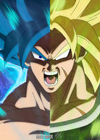 Destined Rivals: Goku and Broly (SSJ Broly Ver.)