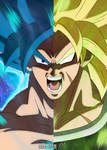Destined Rivals: Goku and Broly (SSJ Broly Ver.)