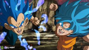 SSB Goku and SSBE Vegeta