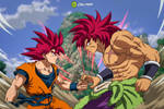 Goku Vs. Broly: SSJG