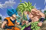 Goku Vs. Broly: SSB and SSJFP