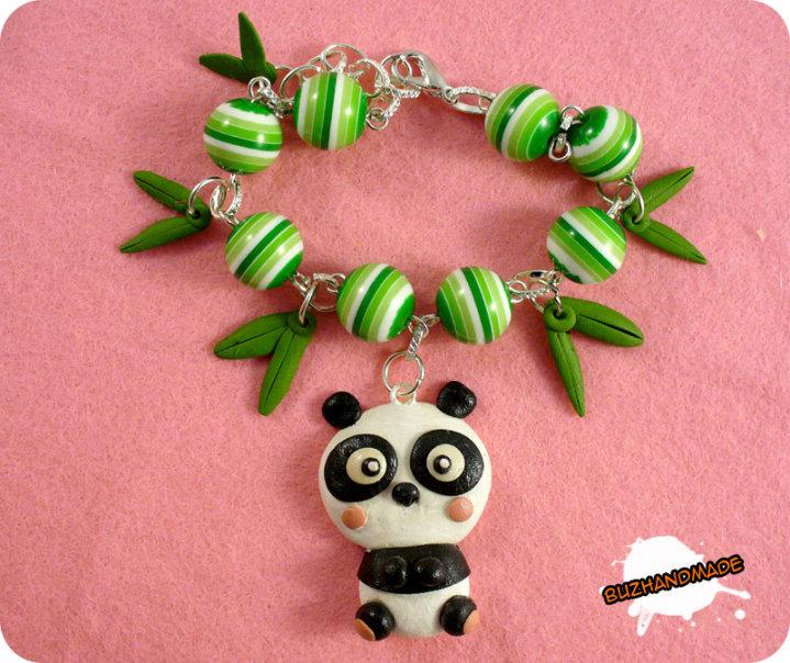 FIMO - little Panda Bracelet by buzhandmade