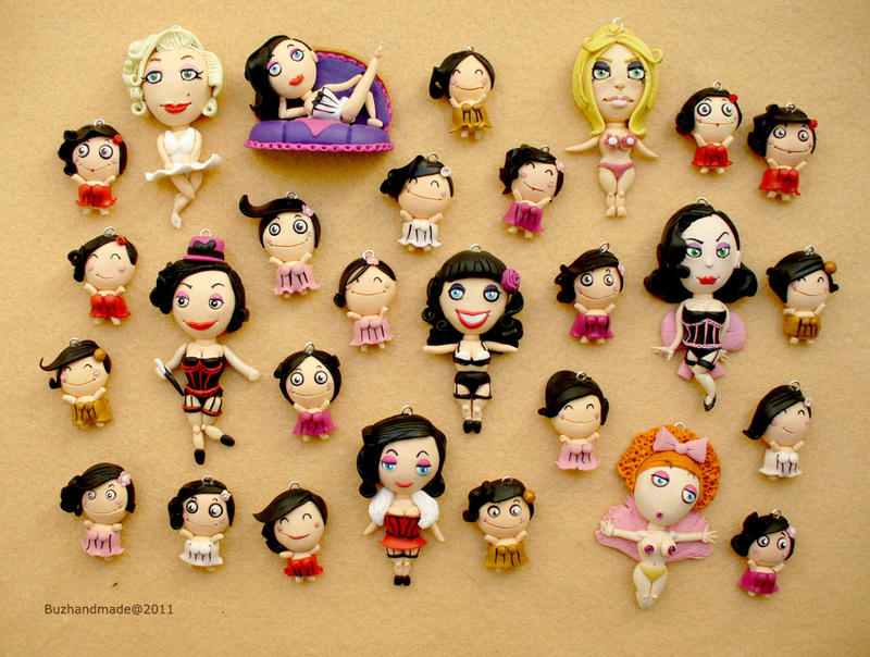 FIMO - Burlesque Dolls by buzhandmade