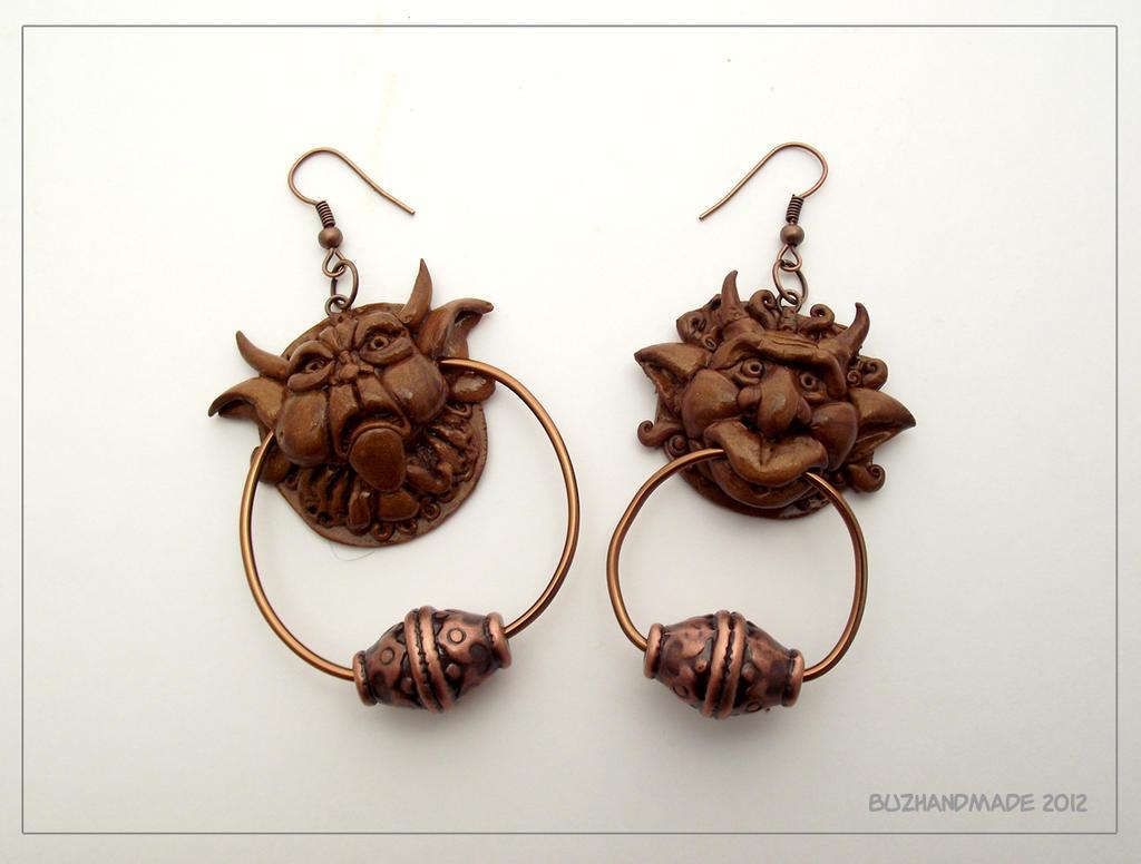 Knocker Earrings Labyrinth By Buzhandmade On Deviantart