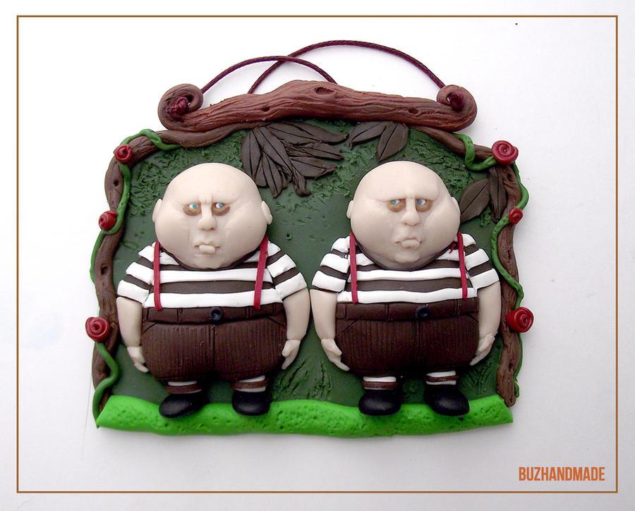 Clay - Alice in wonderland twins by buzhandmade