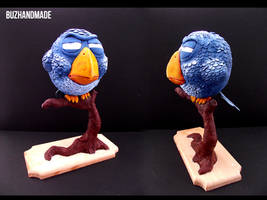 Blue Bird Pixar - Sculpture by buzhandmade