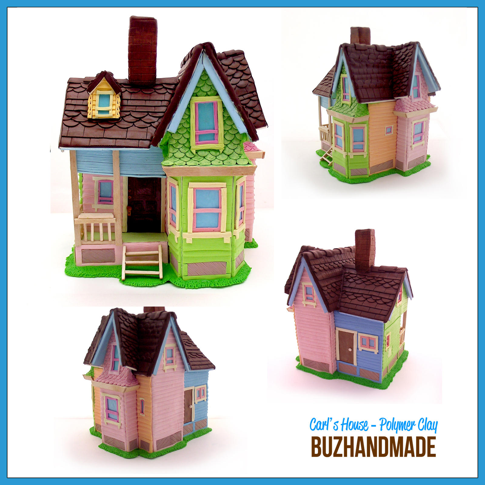 Carl's House - Polymer CLAY by buzhandmade