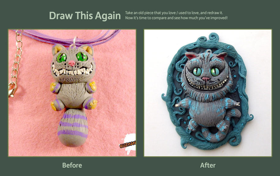 Draw (sculpt) this again - Cheshire CAT! by buzhandmade