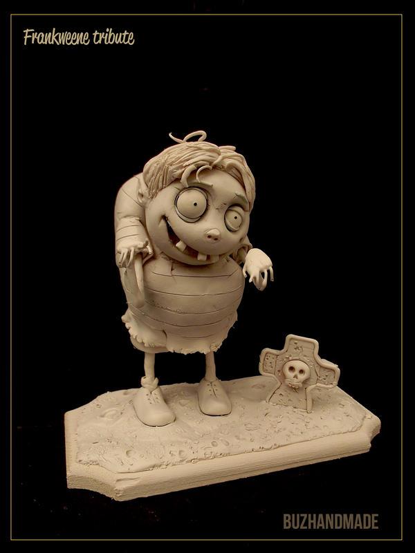 FRANKWEENE Tribute - Sculpture by buzhandmade