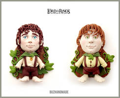 Lord of the rings charm set - Frodo and Sam by buzhandmade