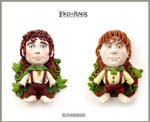 Lord of the rings charm set - Frodo and Sam
