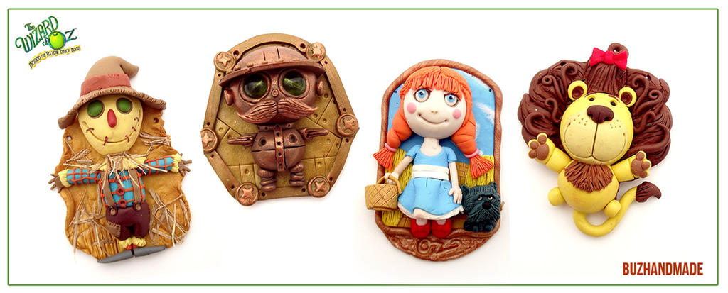 Wizard of OZ - Polymer clay Charms by buzhandmade