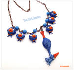 Blue Bird Pixar Necklace - Polymer Clay FANART