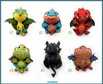 Dragon Charms Collection - CLAY Sculptures