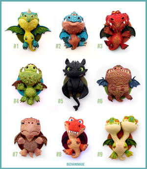 Dragon Charms Collection COMPLETE - Polymer CLAY